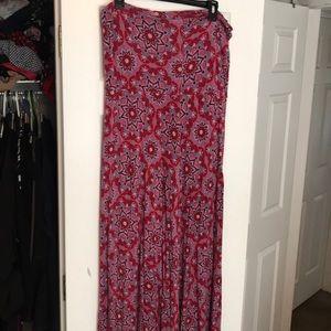 Maxi long floral strapless dress
